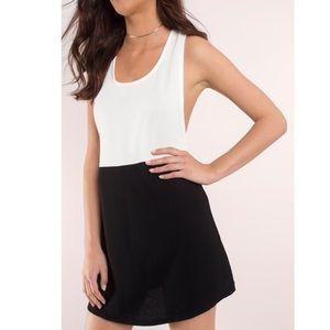 TOBI black and white racer back dress